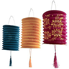 6 Paper Mexicana Lanterns