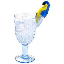 6 Reusable Parrot Cocktail Glass Clips