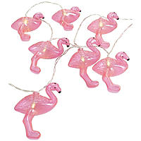 8 LED Light Up Pink Flamingo Party String Lights