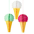 3 Fold-Out Ice Cream Decorations