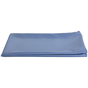 Inky Blue Oblong Waterproof Tablecloth with Opening