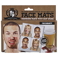 20 Face Mats - Double Sided Clip On Funny Face Beer Coasters