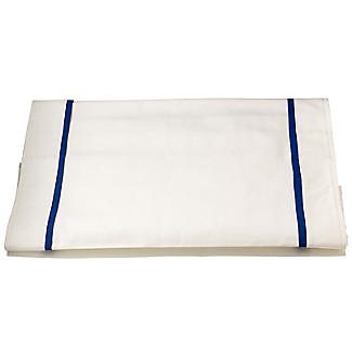 Delicious Table Runner With Blue Trim