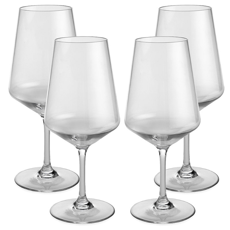 Party Proof Plastic Large Wine Goblet x 4