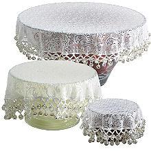 Perlenbesetztes Abdecktücher 3er-Set