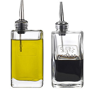 Essig und Öl Set aus Glas