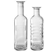 Italian Glass Bottles Water and Wine