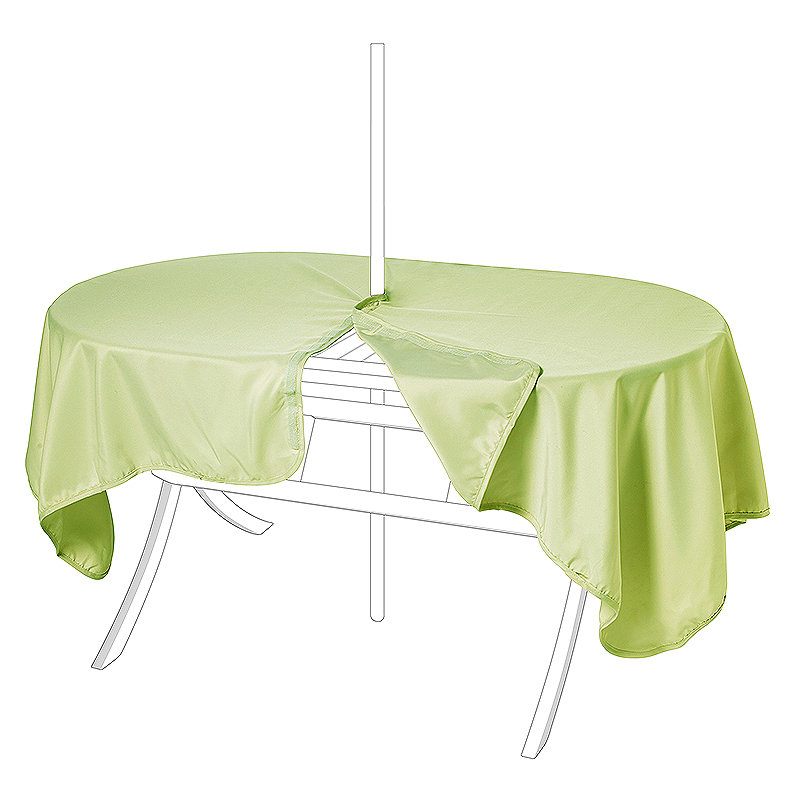 Waterproof Oblong Tablecloth Moss