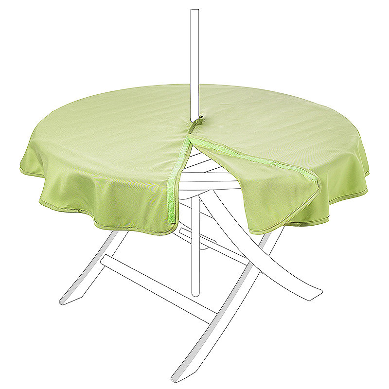 Waterproof Round Tablecloth Moss