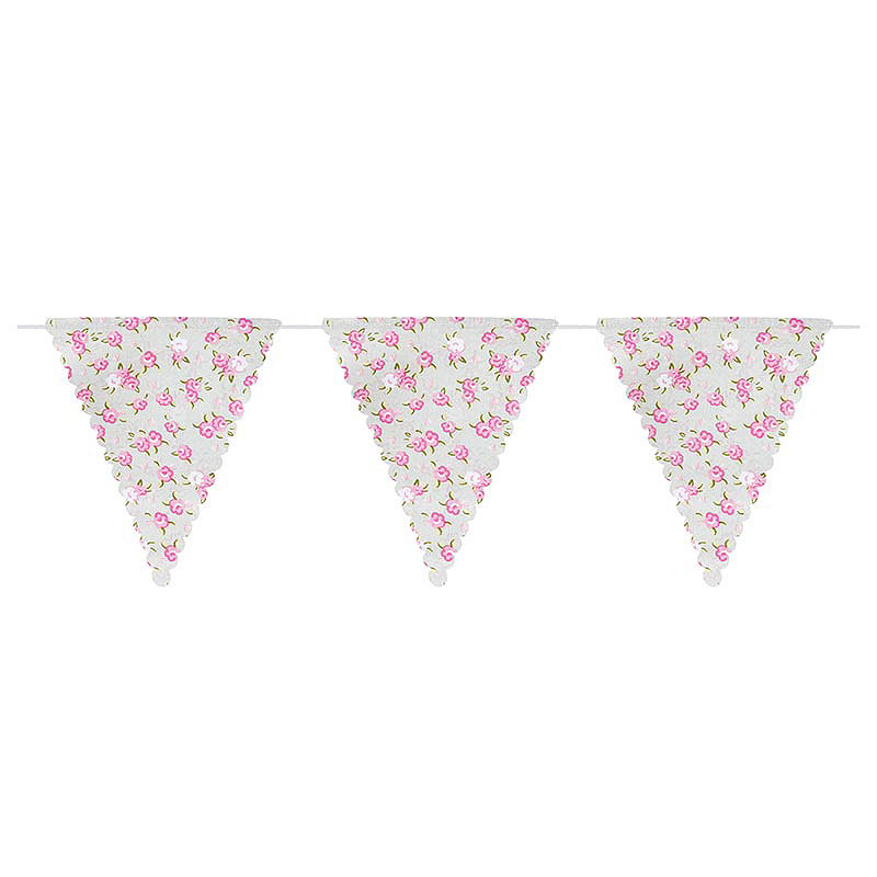 Frills and Spills Cotton Bunting 14 Flags