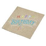 Happy Birthday 20 Paper Napkins
