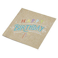 Happy Birthday 20 Paper Napkins