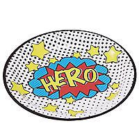 Comic Superhero 8 Paper Plates