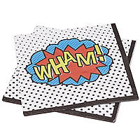 Comic Superhero 20 Paper Napkins