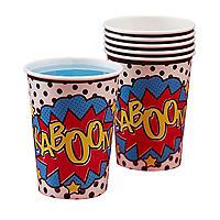 Comic Superhero 8 Paper Cups