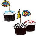 Comic Superhero 20 Cupcake Picks