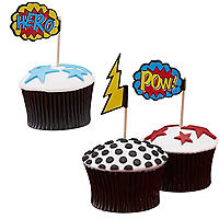 Comic Superhero 20 Cupcake Picks