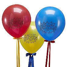 Comic Superhero 10 'Kaboom' Balloons