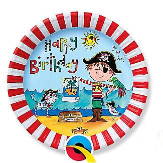 Rachel Ellen Pirate 8 Paper Plates alt image 1