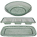 Glass Effect Tray Platter and Bowl Bundle