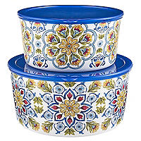Amalfi Lidded Bowl Duo