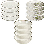 Tivoli Stone Effect Melamine Picnicware 12 Piece Dinner Set