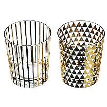 Just Slate 2 Gold Patterned Glasses