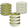 Tivoli Moss Green Melamine Picnicware Bundle