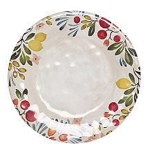 Lemon Grove Glass Coated Melamine Dinner Plate