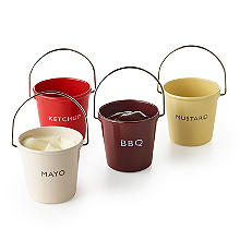 Eddingtons Ranch Ketchup Mayo BBQ and Mustard Condiment Buckets