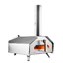 Uuni Pro Multi-Fuel Outdoor-Pizzaofen mit Backsteinen