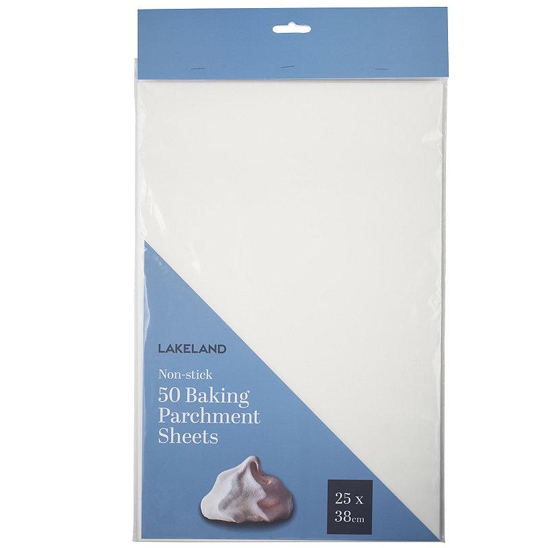 50 Baking Parchment Paper Sheets 25 x 38cm