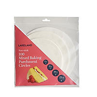 100 Baking Parchment Liner Paper Circles - Mixed