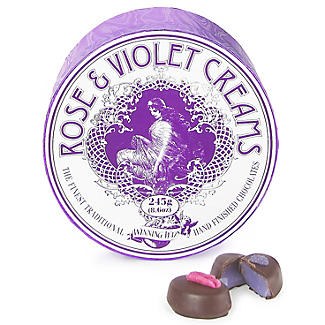 Rose & Violet Dark Chocolate Fondant Creams in Gift Box 185g alt image 2