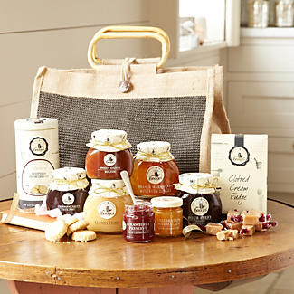 Mrs Bridges® Large Jute Hamper alt image 1
