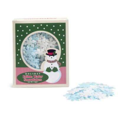 Blue Cake Decorating Sprinkles : Christmas Edible Blue & White Snowflake Cake Toppers 14g