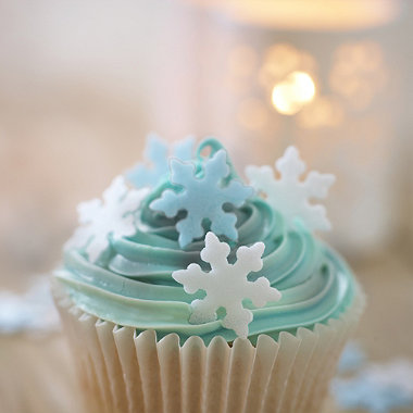 Edible Snowflake Wafers