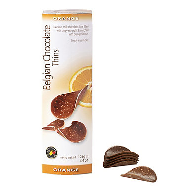 Belgian Chocolate Thins - Orange