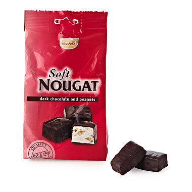 Nougat with Dark Chocolate & Peanuts