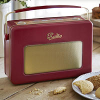 Retro Radio Biscuit Tin