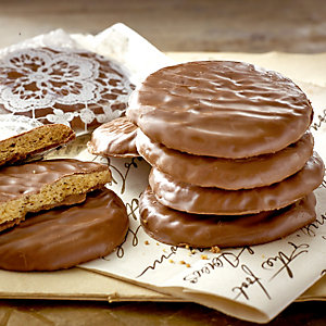 Milk Chocolate Salted Caramel Biscuits