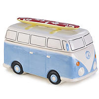 Camper Van Cookie Jar With 150g All Butter Shortbread Biscuits