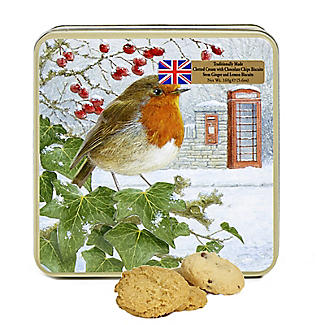 Traditional Robin Biscuit Tin