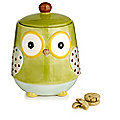 Green Owl Cookie Jar