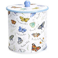 Butterfly Biscuit Barrel with Biscuits