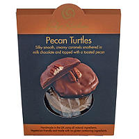 Fudge Kitchen Pecan Turtles - Caramels in Milk