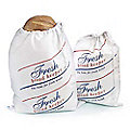 Drawstring Cotton Bread Loaf Storage Bag - Large Size