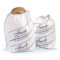 Drawstring Cotton Bread Loaf Storage Bag - Large