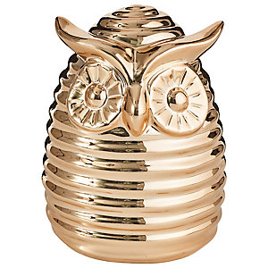 Copper Owl Money Box with Chocolate Coins