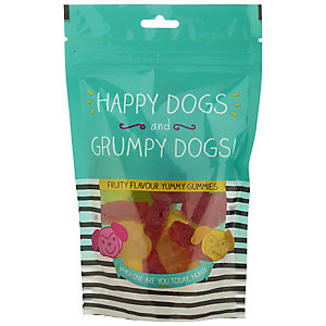 Happy Dogs and Grumpy Dogs Fruity Flavour Gummies